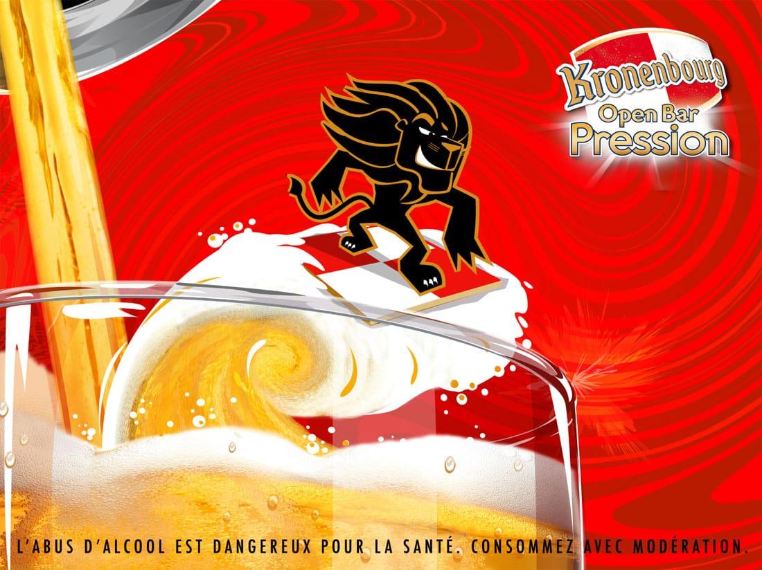 Affiche bière Kronenbourg