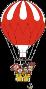 illustration voyage en ballon