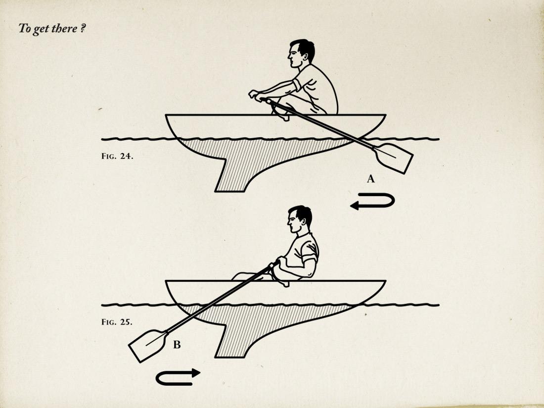 Dessin schéma barque