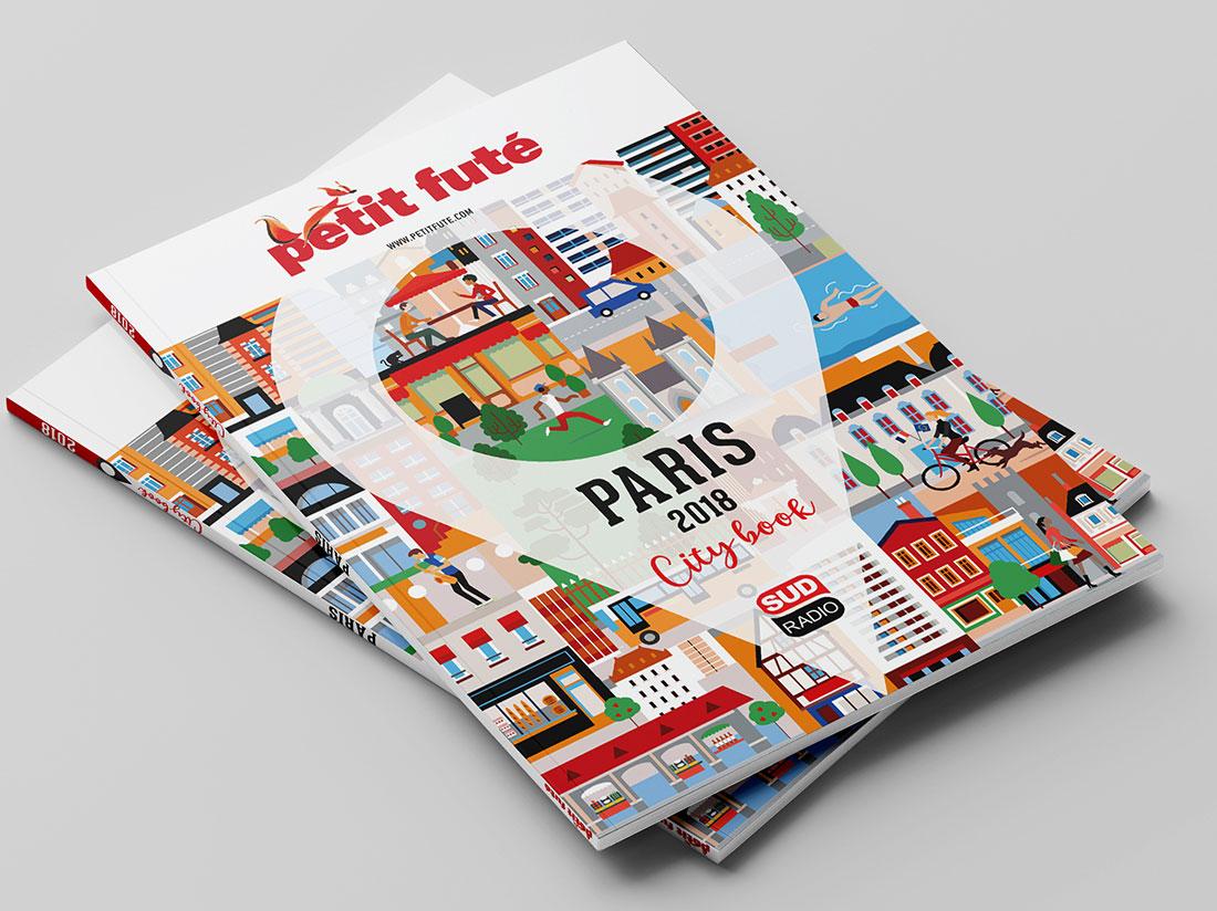 illustration du guide touristique de la ville de Paris