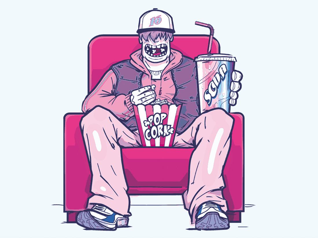 Pop corn au cinema